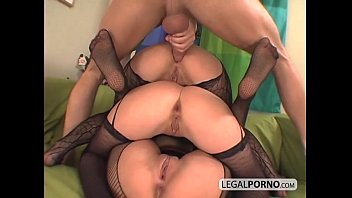 3 euro babes getting horny in fishnet stockings TS-7-02