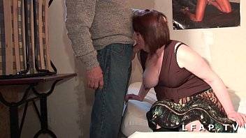 BBW French mom serious sodomized in a threesome with Papy