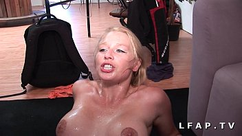 Porn casting of a busty French milf analized DP and facialized