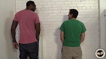 Aiden Parker Fucks A Black Guy In A Restroom