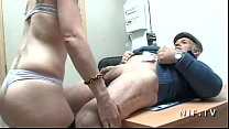 Horny french amateur slut sodomized in threeway with Papy