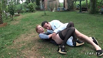 Cindy Picardie serious sodomized in the garden