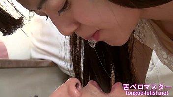 Japanese Asian Girls Fetish Deep Kissing & Handjob, Tongue Fetish, Spit Fetish - More at tongue-fetish.net
