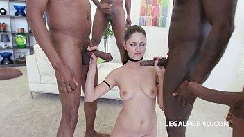 Francesca Dicaprio BBC gang bang with balls deep anal pounding
