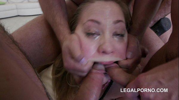 Teen slut Selvaggia hardest face fuck ever seen   Double Penetration!