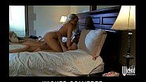 Beautiful blonde bombshell Britney Young makes passionate love
