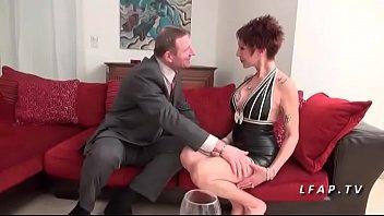 French mature with big tits banged like a slut