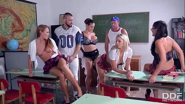 The Schoolgirl Hardcore Sex Orgy of the Fucking Year!