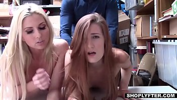 StepMother and StepDaughter punished with hard cock for shoplifting - Shoplyfter