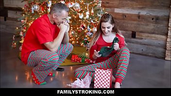 Teen Stepdaughter Fucked On Christmas Morning By Dad