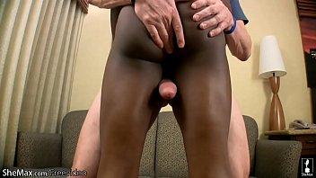 Glamorous black shedoll gets deep anal banged in interracial