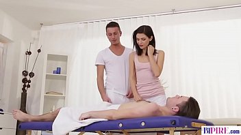 Bisexual anal massage with a step brother - Arian Joy, Nick Gill and Jeffrey Lloyd