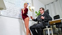 BUMS BUERO - Beauty Victoria Pure hot blowjob and fuck at work