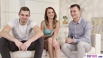 Bisexual big cocked guys and a shaved pussy - Katy Rose, Ramy and Charlie Dean