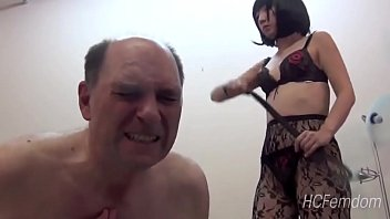 Japanese mistress whips her slave as he learns Japanese