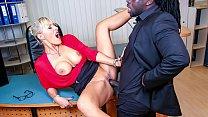 BUMS BUERO - Kinky German blonde MILF Lana Vegas fucks BBC in raunchy office affair
