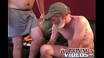 Lusty bloke strokes his pecker and shoves a dildo up his ass