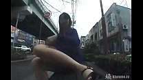 I'm masturbating on the main road Outdoor shame play of a perverted married woman!
