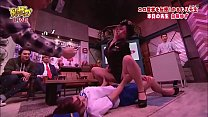 Sexy actress miniskirt bends forward and panchira service! Show off lesbian play at the woman on top posture!