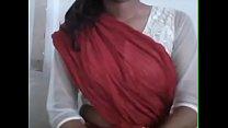 Maheshwari in Red Half Saree