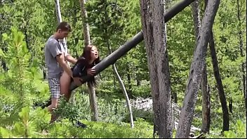 Caught my girlfriend getting fucked by other camp counselor