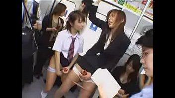 Two asian shemale jerk off in public