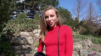 GERMAN SCOUT - Skinny College Teen Emily Seduce to Fuck