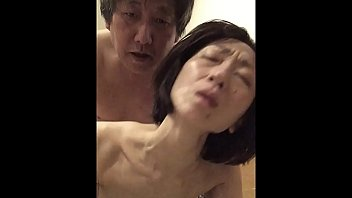 Mature wife Miyuki panting painfully at the woman on top posture