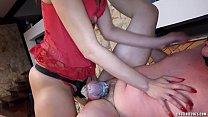 v. prostate milking slave in chastity