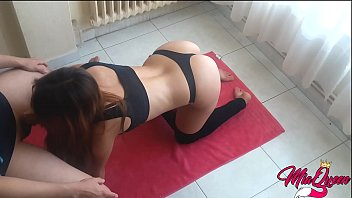 Sexy Fit Stepsister Caught doing Yoga gets fucked and creampied