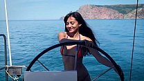 Shrima Malati enjoys oily anal sex with her sex coach Jean-Marie Corda on board of a yacht