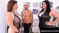 Curvy Cuban Angelina Castro & Big Black Cock Fuck Sara Jay!
