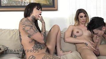 DevilsTGirls Emo Lesbian Couple Want Casey's Cock Inside!