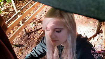 Cute Teen sucks cock in the Forest !