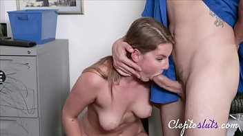 Blonde Teen Slutty Thief Caught & Punished For Stealing- Eliza Eves