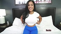 Latina Busty Brunette Sister Fucks Brother After Coming Back From Prison- Alina Belle