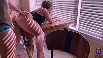 Thick ass wife takes a study break to suck dick and get fuck on the dinning table