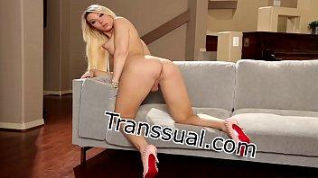 Shemale Eva Paradis analed by guys big dick