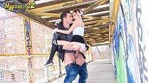 MAMACITAZ - Spanish Teen Mey Madness Has Sex Outdoor On A Factory Bridge