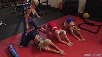 Fit MILFs Having Lesbian Sex In The Gym - London River, Kit Mercer