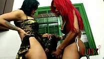 Lony Fetiches Oral Lesson 2 Rebeka Marques & Rayka Fernandes make guy suck their big cocks