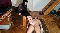 Beth Kinky - Foot play foot job & cum on feet by slave pt1 HD