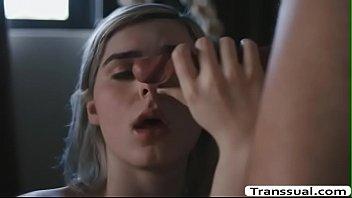 Trans Ella passionate sex with Boyfriend