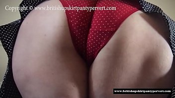 Panty fucking a British mature housewife