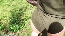 Tattoed Babe Hard Rough Sex Outdoor in the Forest