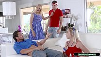 Stepfamily 4th of july suck n fuck orgy