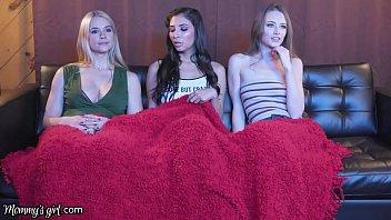 MommysGirl Threesome Movie Night With Gianna Dior's GF And Her Stepmom