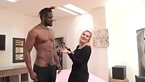 Nuria's back to fulfill her ultimate fantasy: Sucking and fucking a black dong!