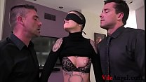 Short Hair Leigh Raven Spit Roasted And DP'd