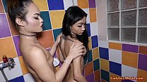 Two Ladyboys Give POV Guy Blowjob And Fuck His Ass